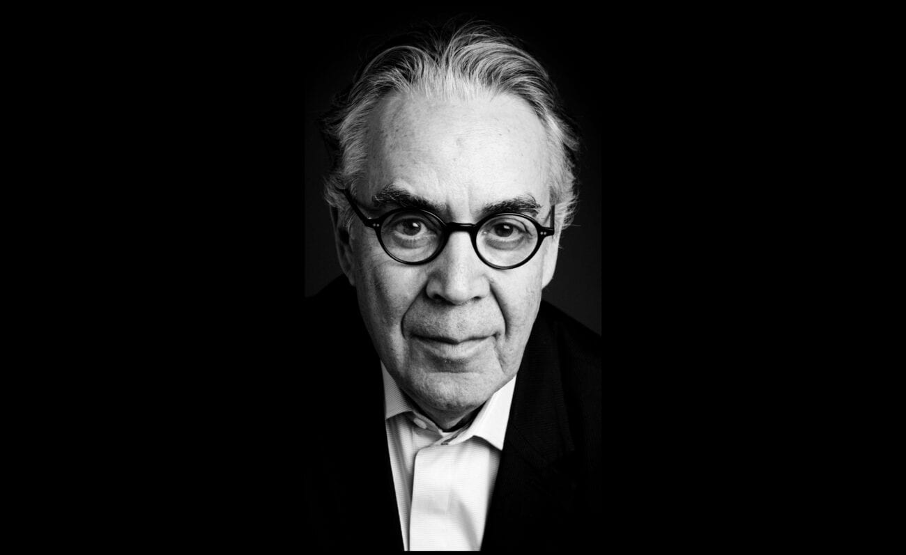 Black and white portrait of composer Howard Shore