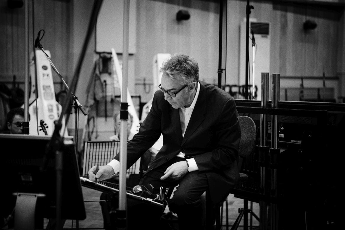 Howard Shore sitting inside Abbey Road recording studios during the Eastern Promises scoring sessions in 2007