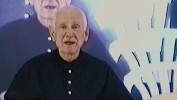 Marshall Applewhite sits for video recorded sermon