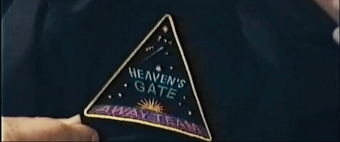 Heaven's Gate Away Team patch on a sleeve