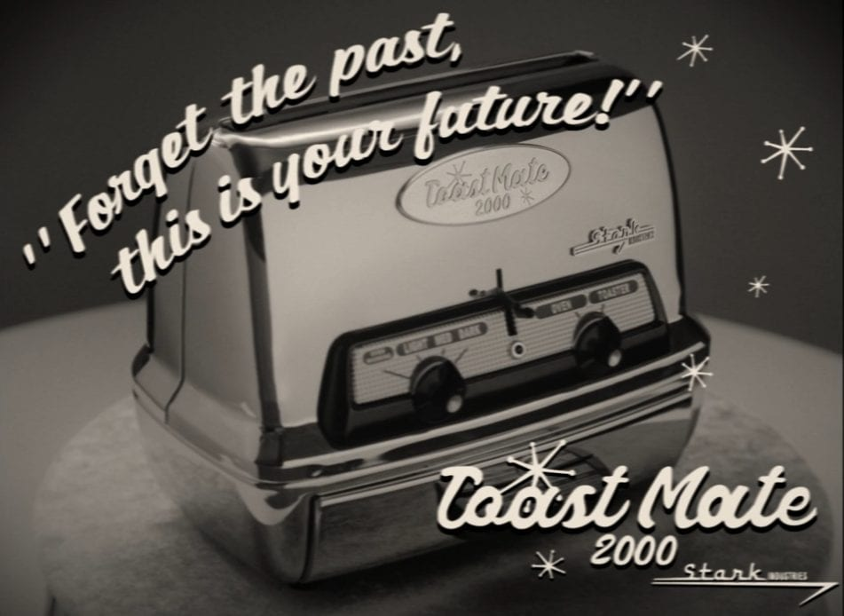 An ad for a Stark Industries Toaster in Marvel and Disney+'s WandaVision