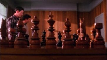 Chess at the Twin Peaks sheriffs station
