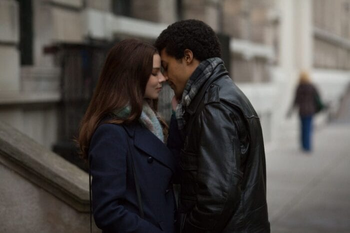Barry and Charlotte share a kiss on the street.