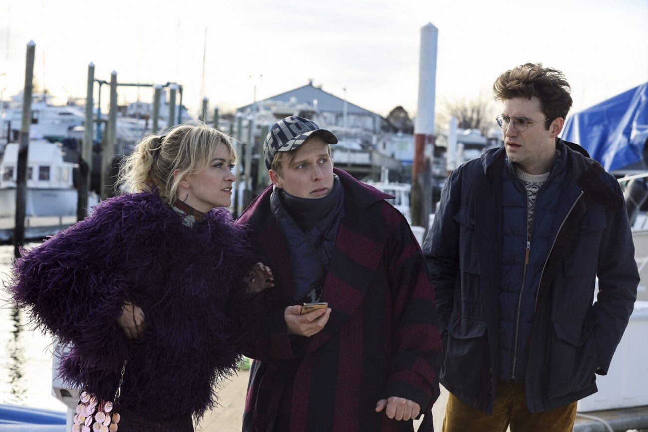 Portia, Elliott, and Drew talk while investigating leads in Dory's disappearance.