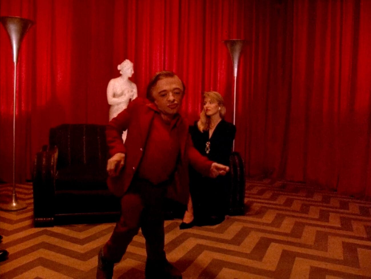 The Dream Man does his dance in the Red Room