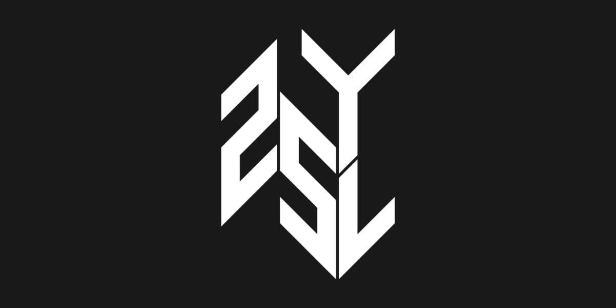 25YL logo white on black