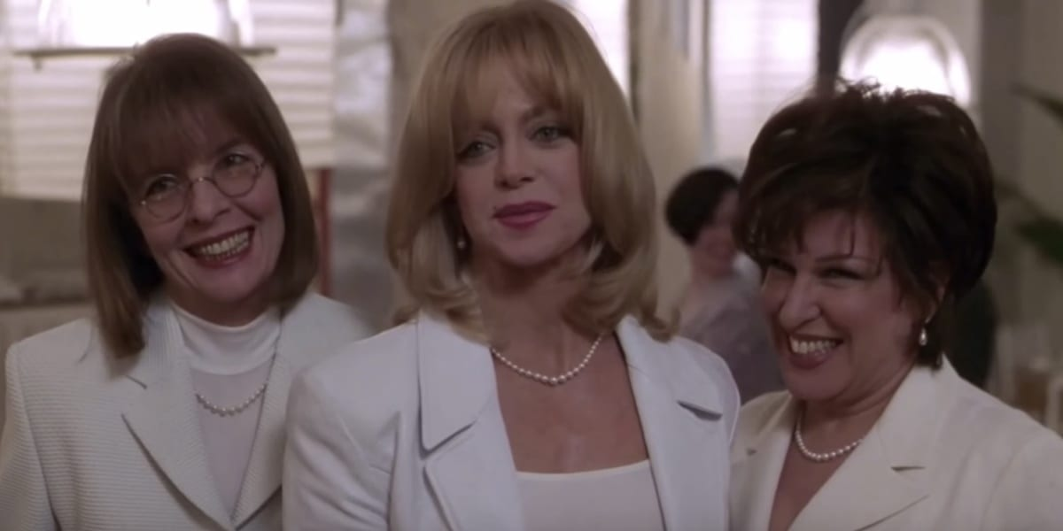 Annie, Elise and Brenda dressed in white in The First Wives Club