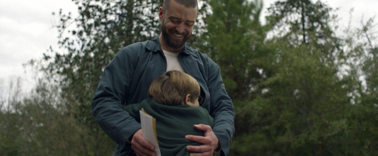 Sam gives a smiling Eddie a hug.