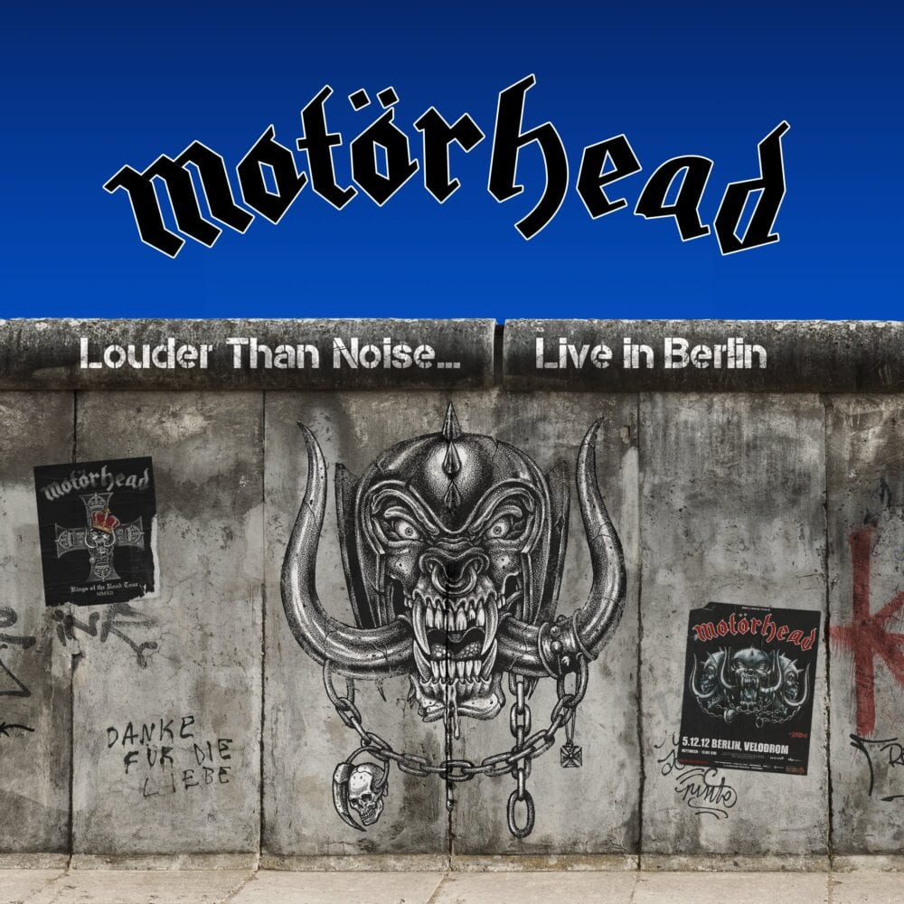 The album cover for the forthcoming Motorhead album, Louder Than Noise, shows the War Pag on the Berlin Wall