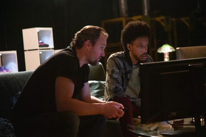 Rick and Rayford look for ideas on a computer.