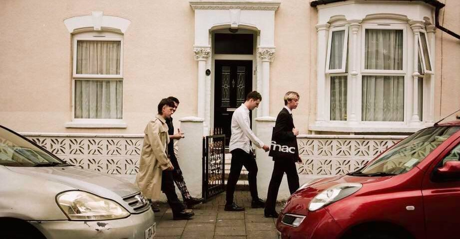 The four members of The Ringards walking down the road