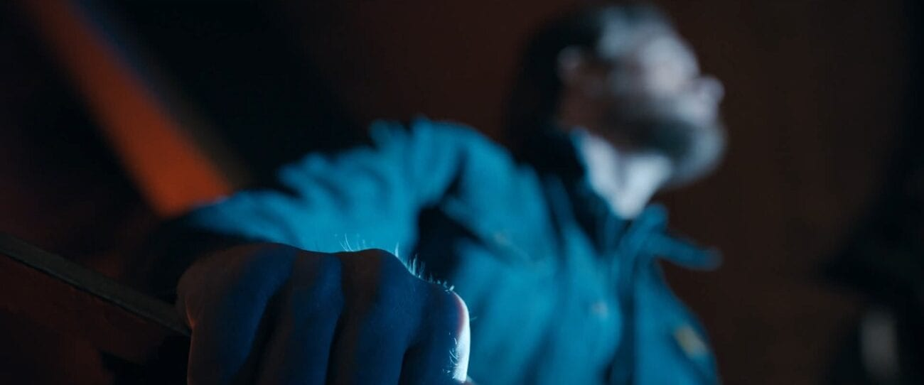 The Stand S1E8 - Zoom in on Flagg's hand, the hairs on his knuckles are standing up
