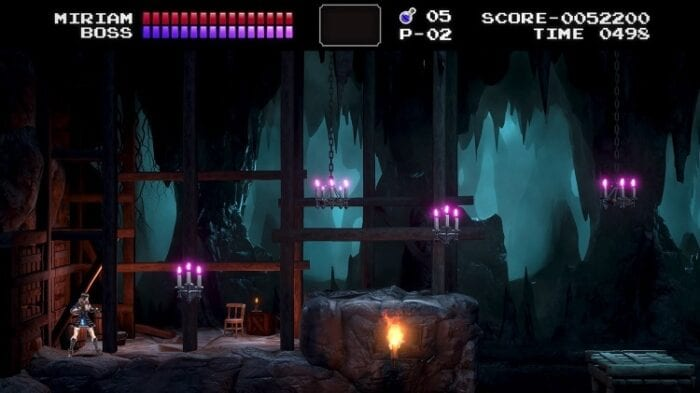 Classic mode in Bloodstained: Ritual of the Night shows Miriam in some familiar looking stages.