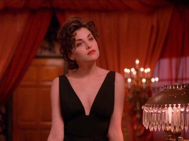 Audrey at One Eyed Jacks in black dress
