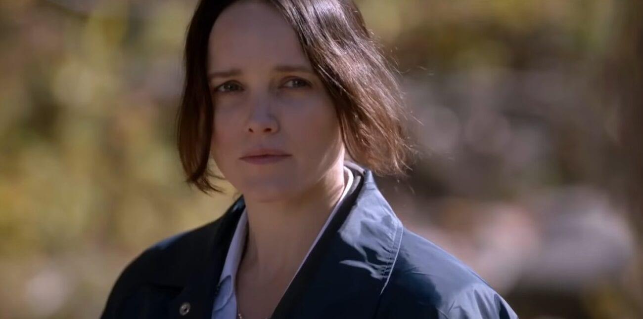 Clarice, outside, in her FBI windbreaker