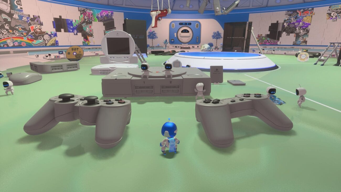 A Playstation themed environment in Astro's Playroom