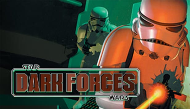 Dark Forces art shows two stormtroopers and the title logo