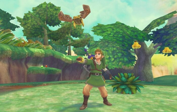 Link in Skyward Sword uses the Beetle