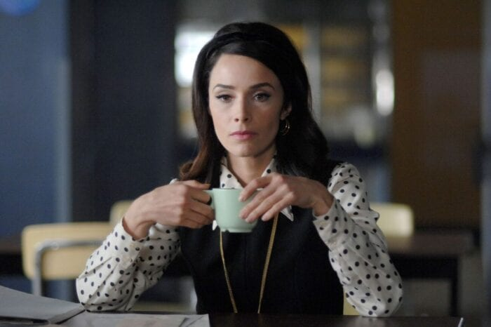 """Lucy (Abigail Spencer) contemplates in the 1960s in """"Space Race"""""""