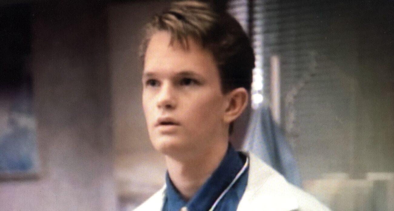 Doogie in his hospital attire