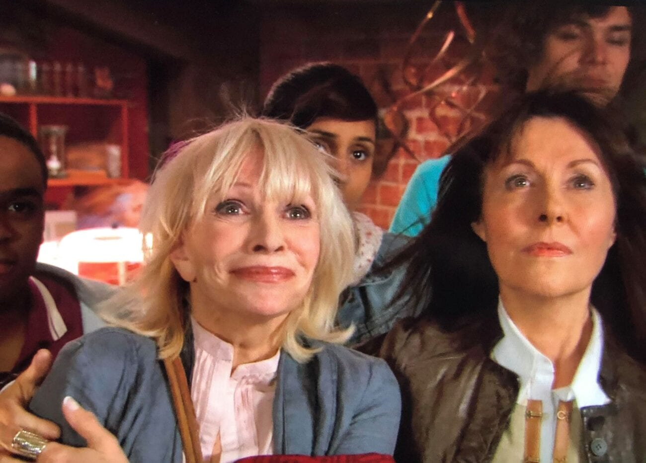Jo, Sarah Jane, Clyde, Santiago and Rani watch the TARDIS disappear from the attic at Bannerman Road
