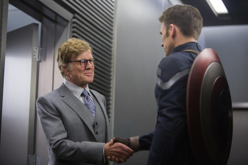 Robert Redford played the hero in the 1970s, the villain in Captain America: The Winter Soldier.