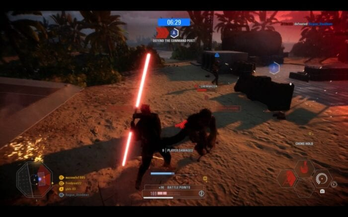 Gameplay from Battlefront 2 featuring Darth Maul