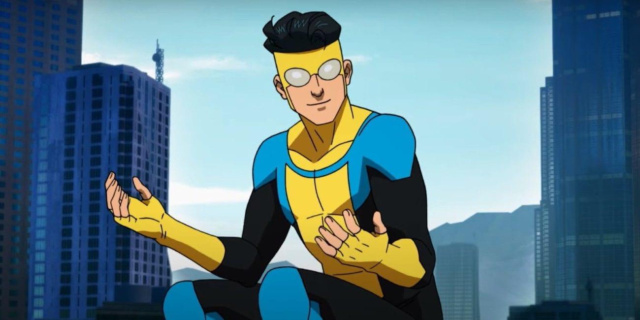 Invincible admires his new suit.