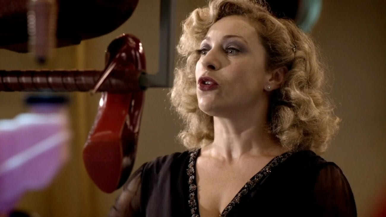 """River Song (Alex Kingston) pilots the TARDIS in the """"Doctor Who"""" episode """"Time of Angels"""""""