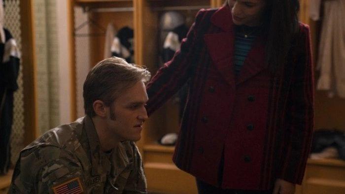 John Walker (Wyatt Russell) sits and ponders...