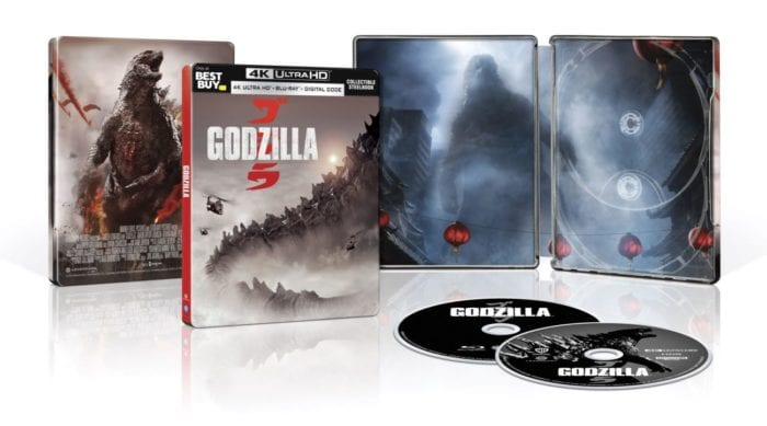 """The cover, interiors, and disc art of """"Godzilla"""""""