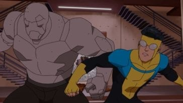 Invincible and Titan storm Machine Head's penthouse in S1E5.