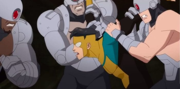 Mark is held and beaten up by 3 Reanimen in S1E6