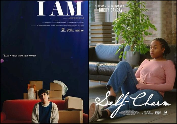 Posters for I Am and Self Charm (2021)