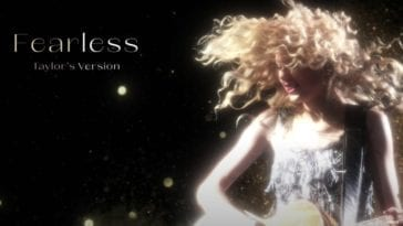 "Lyric video for ""Fearless"" (Taylor's Version)"
