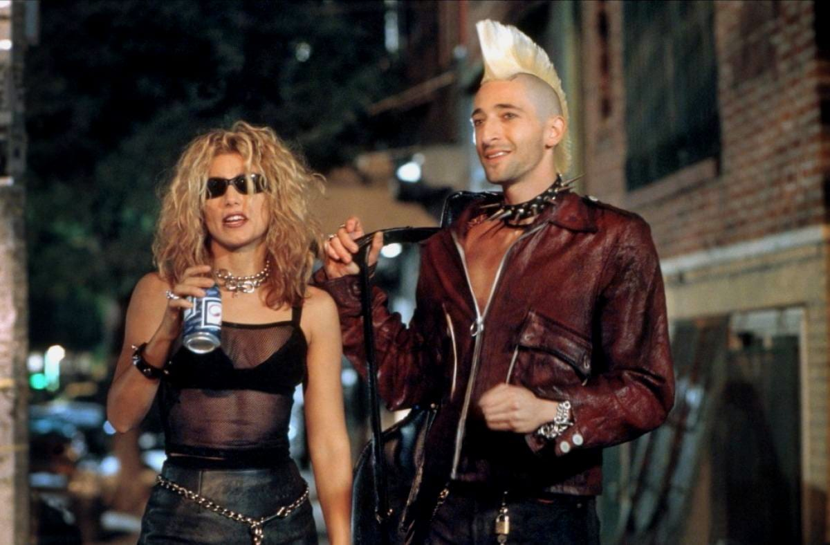 Ritchie and Ruby show off their punk look on the streets of Queens