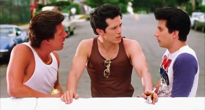 Vinny, Brian and Anthony hang out on a Queens street