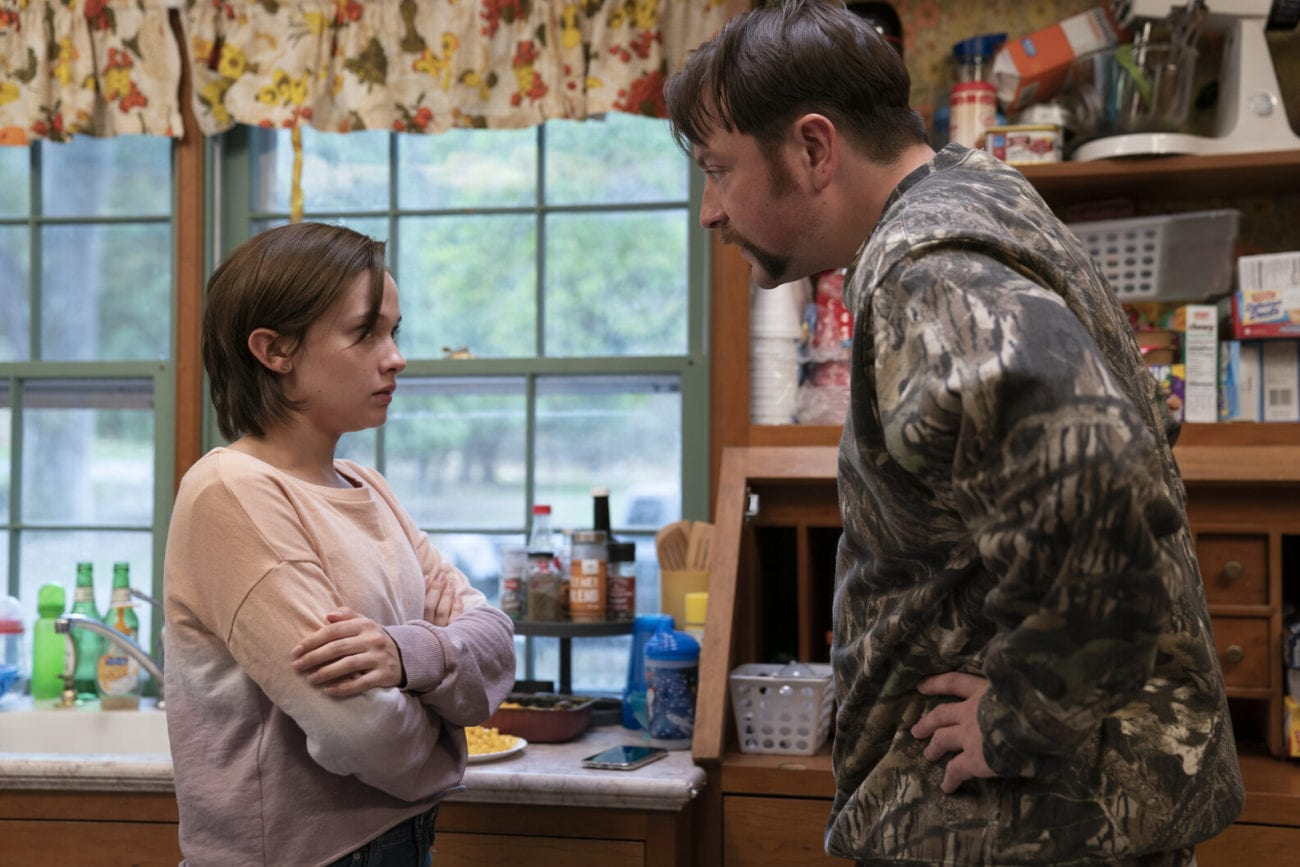 Erin (Cailee Spaeny) is yelled at by her father, Kenny (Patrick Murney).