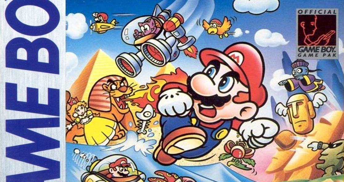 Close up of the Super Mario Land box art