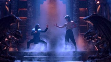 Sub-Zero and Liu Kang face off in 1995's Mortal Kombat