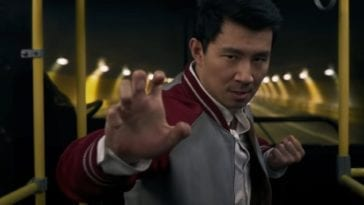 Shang-Chi in a fighting stance