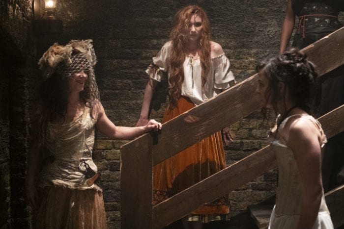Maladie, Mary and Amalia behind the scenes of the opera in The Nevers pilot