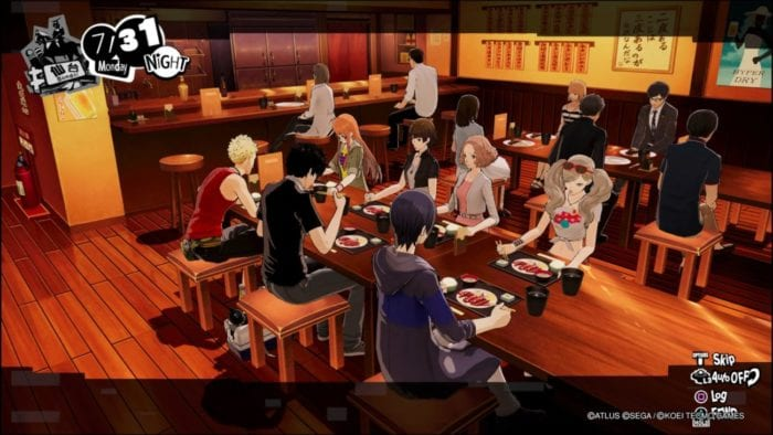 All the members of the Phantom Thief crew chow down on food!