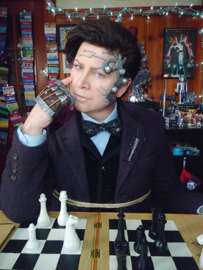 Lee in cosplay as Mr. Clever