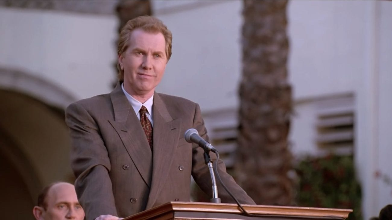 The Mayor making his speech at Sunnydale High's graduation day