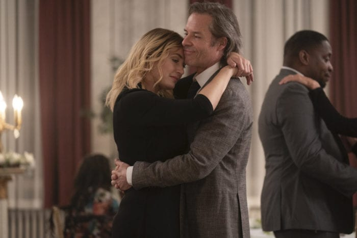 Mare (Kate Winslet) enjoys a dance with Richard (Guy Pearce)