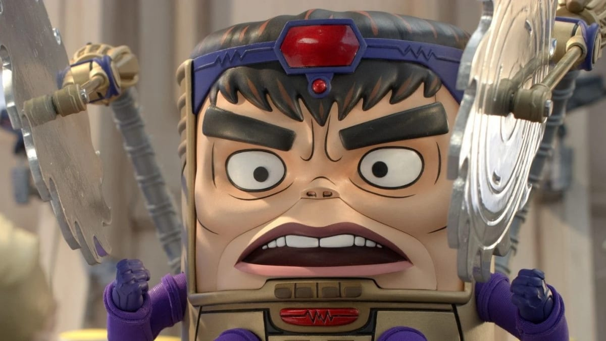 MODOK with buzzsaws to each side of him