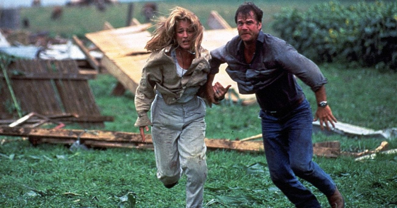 Jo and Bill run to take cover.