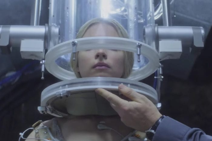 Prarie is fitted with a clear contraption on her head