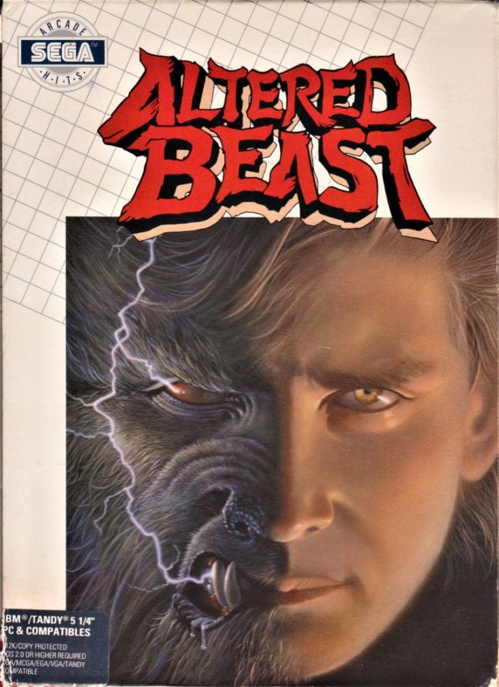 Cover for Altered Beasts depicting a man with a half a wolf face.